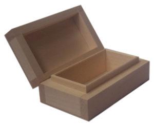 Pudełko drewniane prostokątne, decoupage