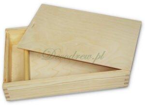 Drewniane pudło na zdjecia ozdobne decoupage decodrew