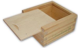 Reklama pudełko drewno pendrive