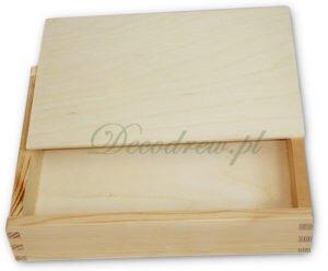 Pudełko drewniane pamiatka ślub wesele chrzest