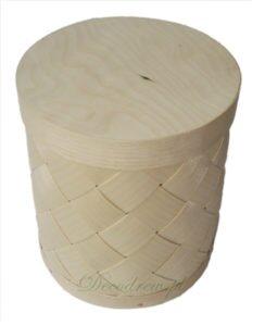 Pudełko z łuby o średnicy ⌀ 13cm i wysokości 15cm