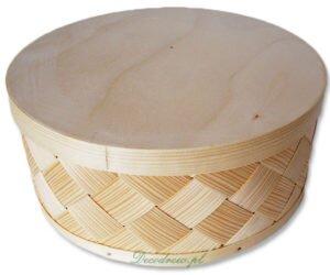 Pudełko drewniane plecione plecionka