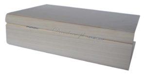 Wymiary (↖ 29cm) (↕ 7,5cm) (↔ 19cm) książka drewniana