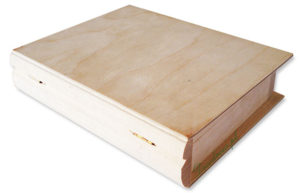Książka pudełko drewniane