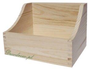 Zasobnik drewniany pudełko na cd dvd i inne prechistoryczne nośniki danych.