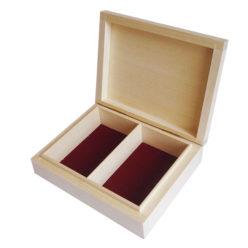 Pudełko na karty drewniane