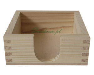 Skrzyneczka drewniania, pojemnik na podkładki