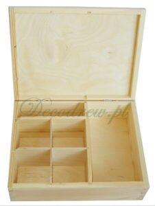 Pudełko drewno przegródki