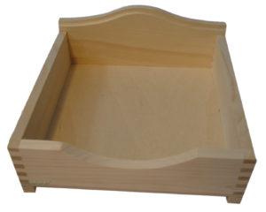 Drewniane pudełko na serwetki decoupage