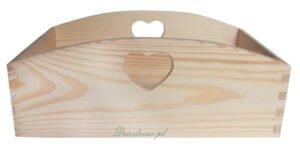 Pudełko drewniane z sercem