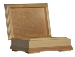 Ozdobne pudełko drewno do decoupage.