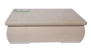 Frezowana drewniana szkatułka ozdobna