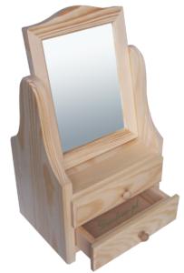 Decoupage toaletka z lustrem drewniana