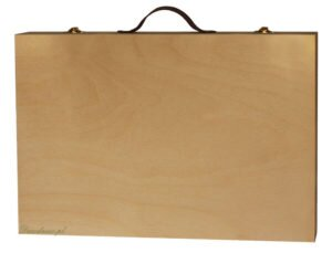 Walizka drewno surowe decoupage