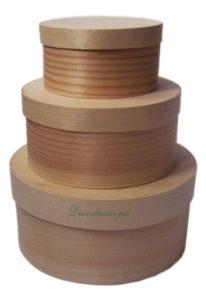Pudełka drewniane okrągłe