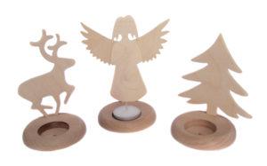 Produkcja swieczników drewnianych wycinanki ze sklejki  tealight decodrew