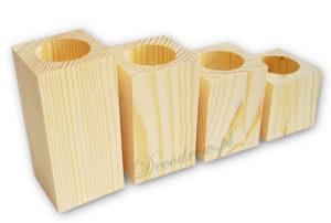 Produkcja swieczników drewnianych do ozdabiania tea light