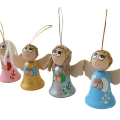 Aniołki dekoracyjne malowane.