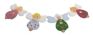 Ręcznie malowane aniołki zawieszki