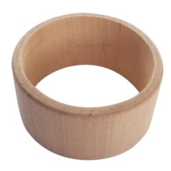 Drewniana bransoleta decoupoage drewniana.