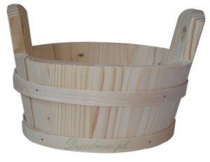 Owalna misa drewniana decoupage decodrew
