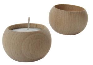Tea-light świecznik podkrzewacz toczony drewniany decodrew