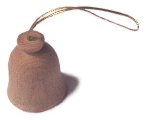 Dzwonek na choinkę toczony drewniany decodrew