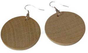 Kolczyko okrągłe drewniane. Bizuteria regionalna rękodzieło decodrew