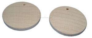 Drewniane kolczyki do ozdabiania.