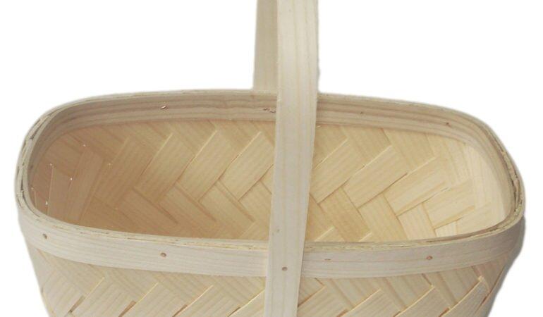 Produkcja koszyków drewno decoupage. Rękodzieło regionalne góralskie.