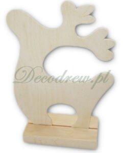Drewniana wycinanka w formie renifera, boże narodzenie ozdoby.