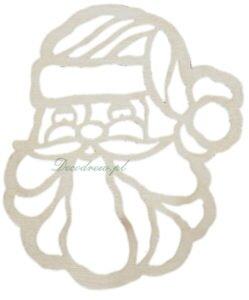Ażurowe elementy ze sklejki wycinanki Mikołaj.