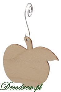 ozdoby na choinke wycinanki laserowe ze sklejki bombka drewniana jablko