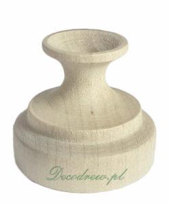Drewniana ozdobna podstawka kieliszek pod jajko.