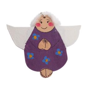 Drewniane aniołki rękodzieło artystyczne