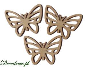 Motyle drewniane ażurowe. Produkcja wycinanek laserowych.