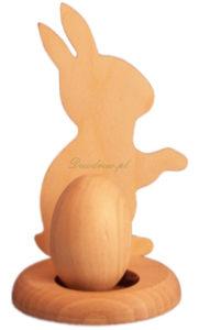 Ozdoba wielkanocna w formie królika drewniana.