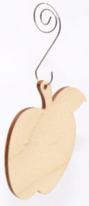 Drewniane jabłko zawieszka na choinkę ozdoba Bożonarodzeniowa drewniana.