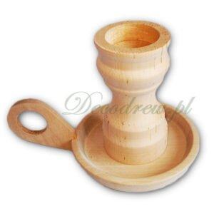 świecznik kaganek drewniany