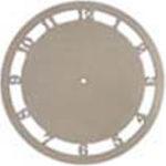 Wycinanka laserowa tarcza zegarowa z cyframi arabskimi.