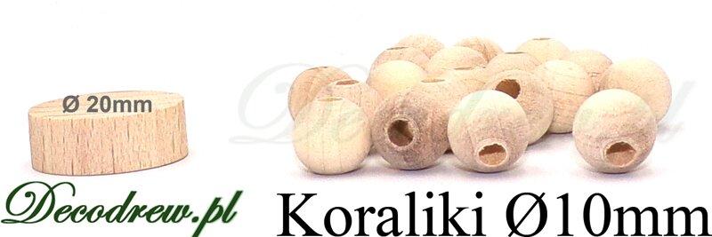 koraliki drewniane lakierowane