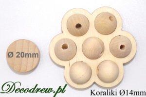 Na zlecenie produkujemy również koraliki drewniane kolorowe.