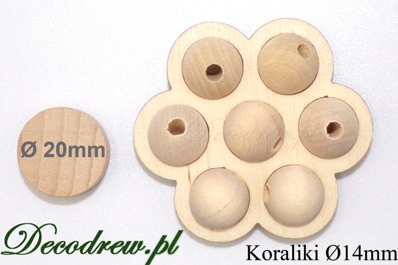 koraliki drewniane kolorowe