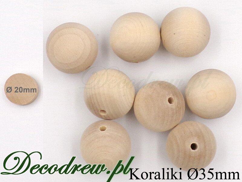 koraliki drewniane hurt