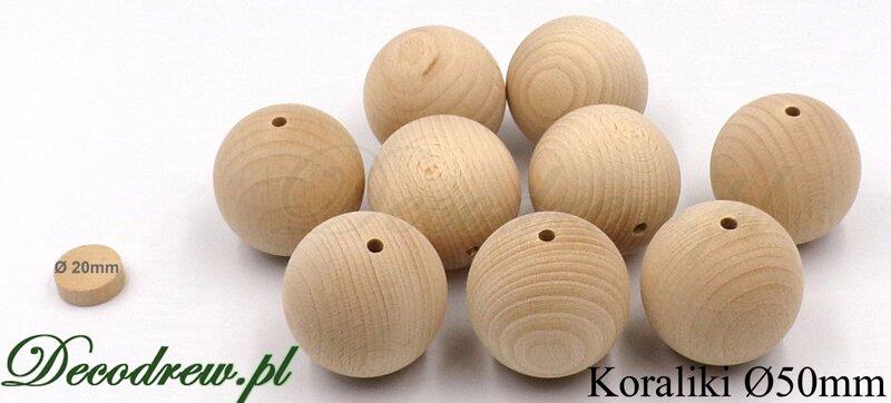 koraliki drewniane surowe