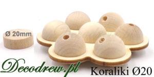 Ozdobne koraliki drewniane naturalne w stojaku kwiatek.