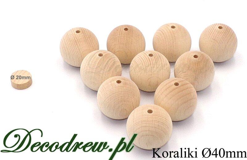 kulki drewniane surowe