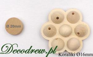 16mm drewniane koraliki hurt sprzedaż wysyłkowa.
