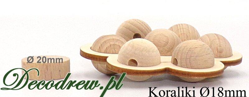 drewniane koraliki dla dzieci