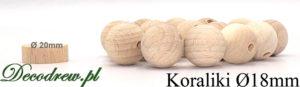 Na zlecenie produkujemy też korale drewniane kolorowe 18mm